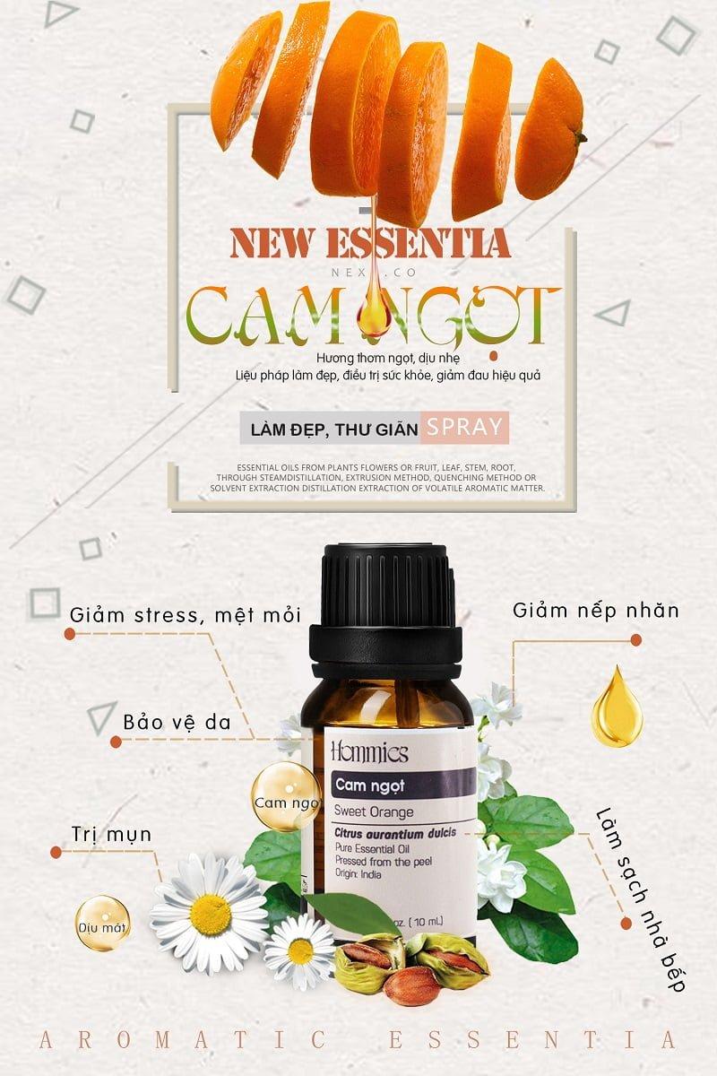Tinh dầu cam ngọt nguyên chất thiên nhiên Hommies 10ml giá tốt nhất
